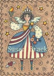 Art: AMERICANA ANGEL LIBERTY by Artist Susan Brack