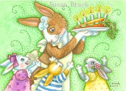 Art: BIRTHDAY BUNNIES by Artist Susan Brack