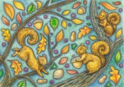 Art: NUT HUNT by Artist Susan Brack