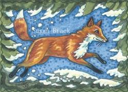 Art: WINTER FOX by Artist Susan Brack
