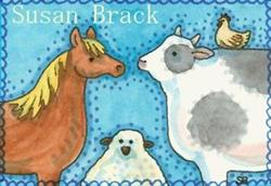 Art: BARNYARD FOLK by Artist Susan Brack