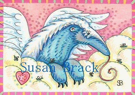 Art: ALL GOOD ANTEATERS GO TO HEAVEN by Artist Susan Brack