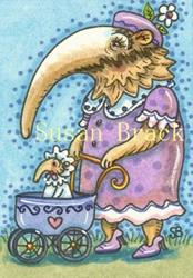Art: AUNTIE AGATHA AND BABY AGNES by Artist Susan Brack