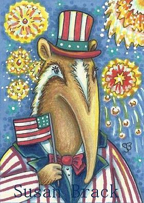 Art: PATRIOTIC ANDY by Artist Susan Brack