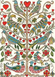 Art: FRAKTUR TREE OF LIFE by Theodora Demetriades