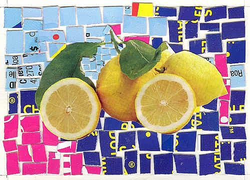 Art: MAKE LEMONADE OUT OF LEMONS by Artist Theodora Demetriades