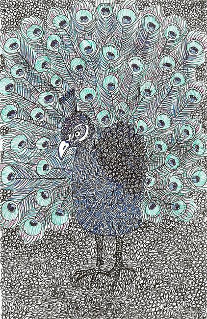 Art: Peacock by Artist Nata ArtistaDonna
