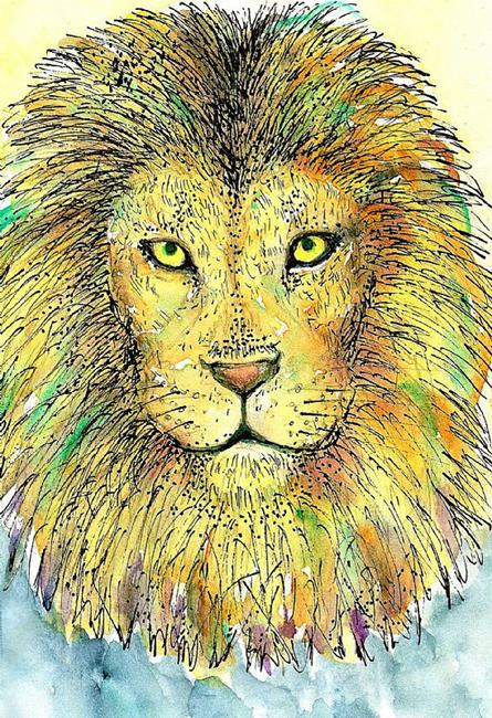 Art: Lion by Artist Nata ArtistaDonna