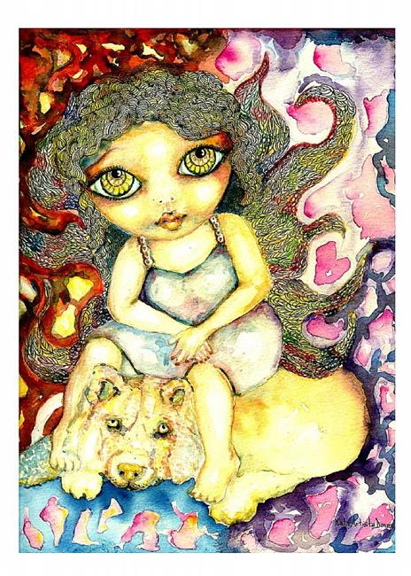 Art: angel greeting card universe nata romeo by Artist Nata Romeo ArtistaDonna