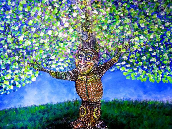 Art: Treaty Oak  tree art by Artist Nata ArtistaDonna