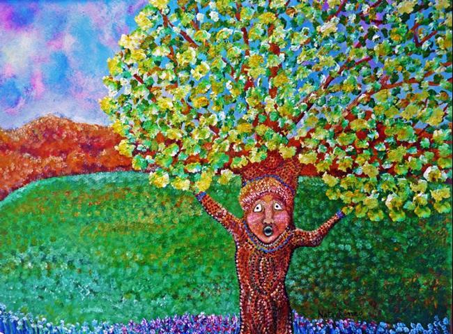 Art: Cedar #2    tree art by Artist Nata ArtistaDonna