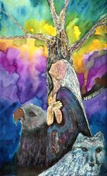 Art: Sun Whisperer Tree Art by Artist Nata ArtistaDonna