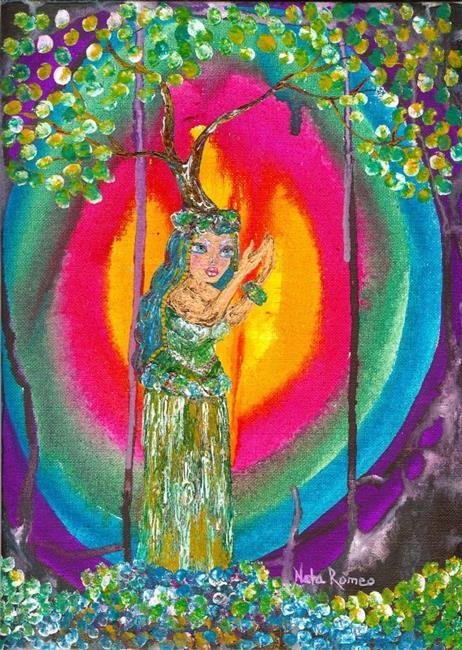 Art: Hula Dancer Tree by Artist Nata ArtistaDonna