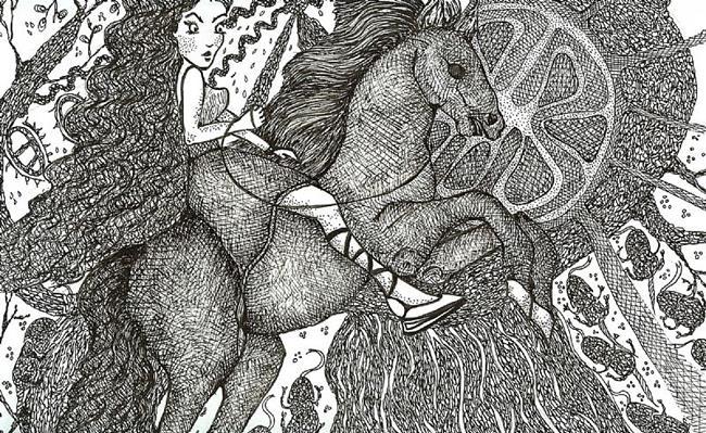 Art: Fantasy World Where Everything is Black & White by Artist Nata Romeo ArtistaDonna