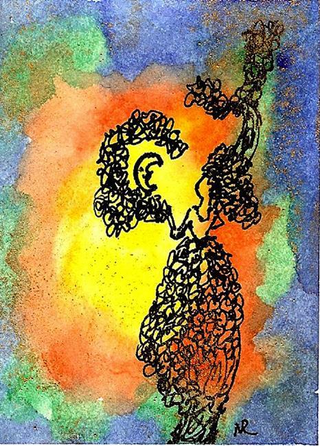 Art: Moon Trees do exist! by Artist Nata Romeo ArtistaDonna