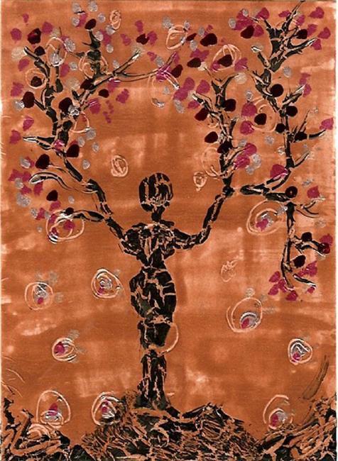 Art: nail polish tree by Artist Nata Romeo ArtistaDonna