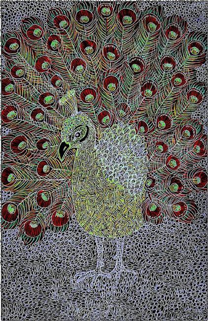 Art: Peacock by Artist Nata Romeo ArtistaDonna
