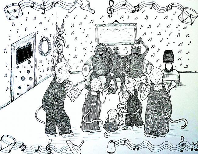 Art: Hooty Hoot Howlers Illustration by Artist Nata ArtistaDonna