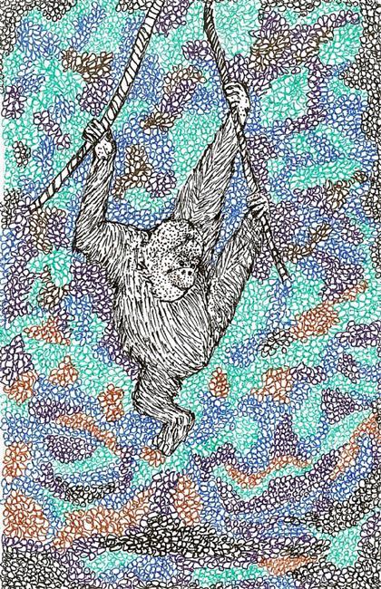 Art: Ape by Artist Nata Romeo ArtistaDonna
