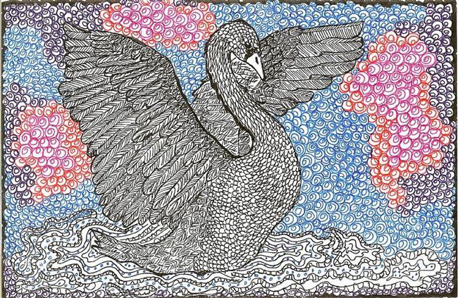 Art: Swan by Artist Nata ArtistaDonna
