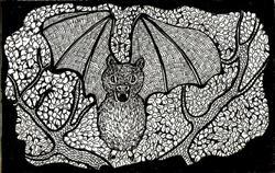 Art: vampire bat by Artist Nata ArtistaDonna