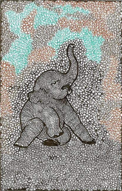 Art: elephant by Artist Nata ArtistaDonna