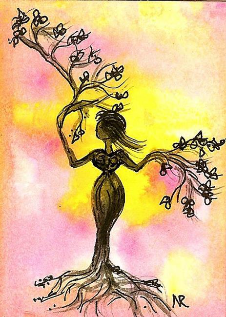 Art: Nurture by Nata Romeo ArtistaDonna by Artist Nata ArtistaDonna