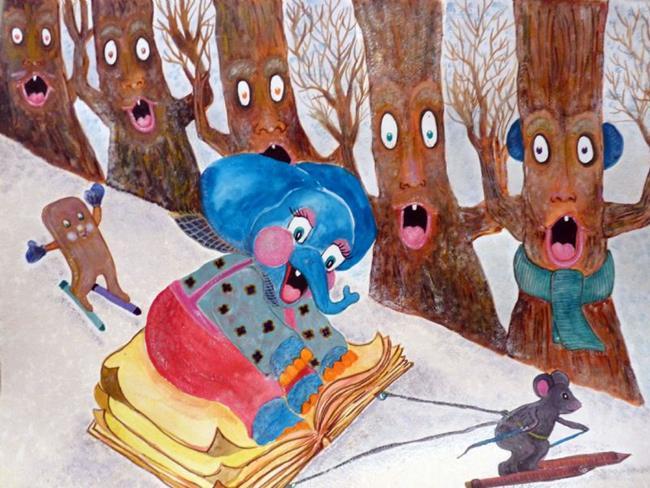 Art: Take A Slide On The Wild Side by Artist Nata ArtistaDonna