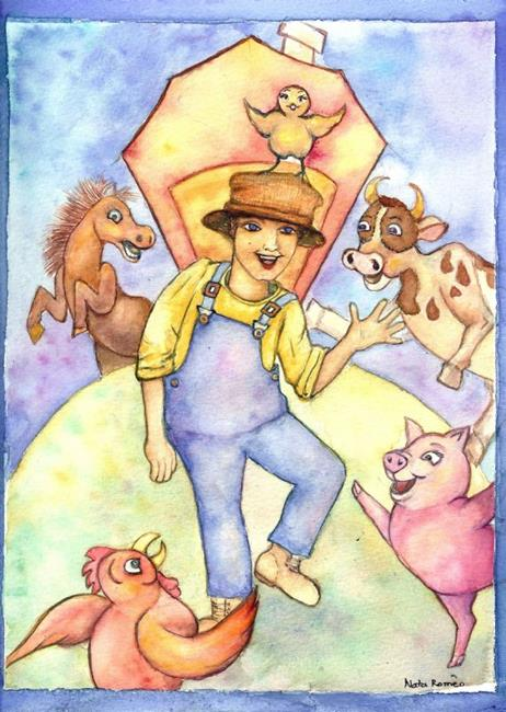 Art: Old McDonald dances on the Farm by Artist Nata ArtistaDonna
