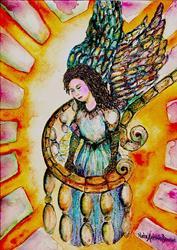 Art: Fallen Angel by Artist Nata ArtistaDonna