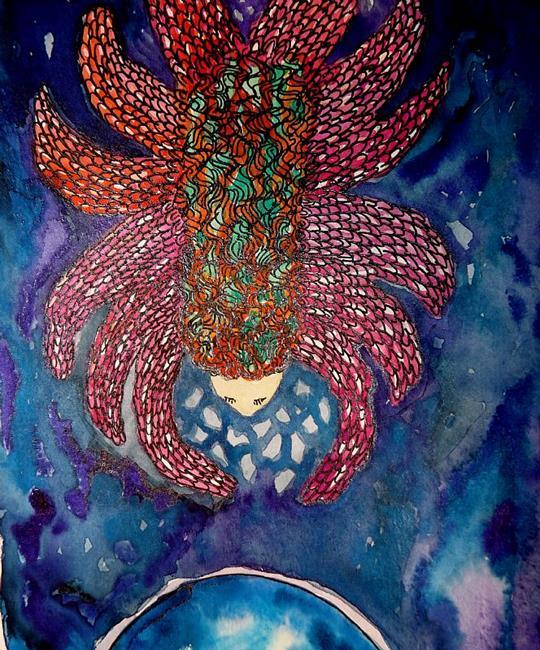 Art: Angel Sketchbook Project 2013 by Artist Nata Romeo ArtistaDonna