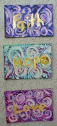Art: Faith Hope Love SOLD by Artist Terri L West