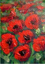 Art: Poppies SOLD by Artist Terri L West