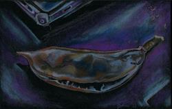 Art: Big Negative Seed Pod by Artist Caroline Lassovszky Baker