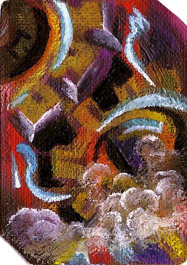 Art: Steampunk ATC ACEO by Artist Caroline Lassovszky Baker