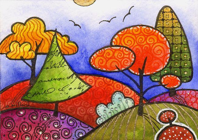 Art: The end of summer by Artist Sandra Willard