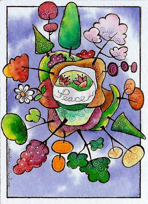 Art: WI-120 - World Peace by Artist Sandra Willard