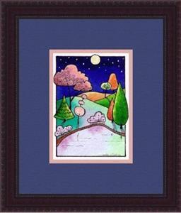 Detail Image for art WI-49 - Moonlit pond
