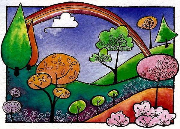 Art: WI-54 - The rainbow by Artist Sandra Willard