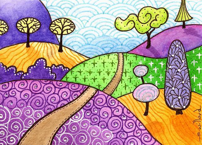 Art: Little trail by Artist Sandra Willard