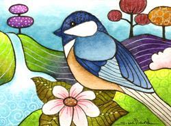 Art: Chickadee Sm.jpg by Artist Sandra Willard