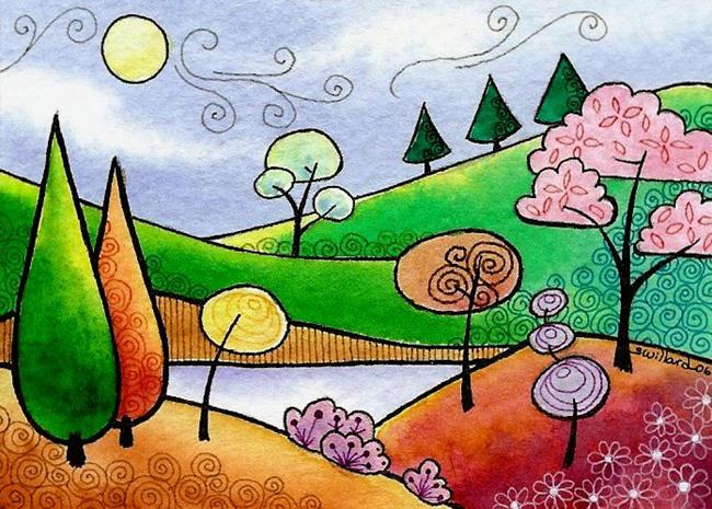 Art: WI-61 - The hidden lake by Artist Sandra Willard