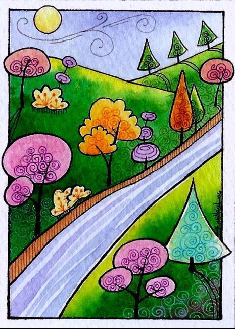Art: WI-64 - The small river by Artist Sandra Willard