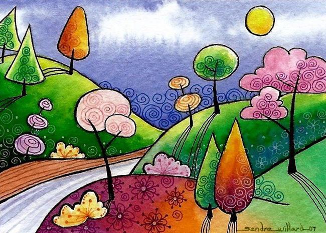 Art: WI-82 - Summer in bloom by Artist Sandra Willard