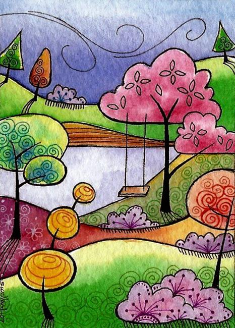 Art: WI-84 - Springtime breeze by Artist Sandra Willard