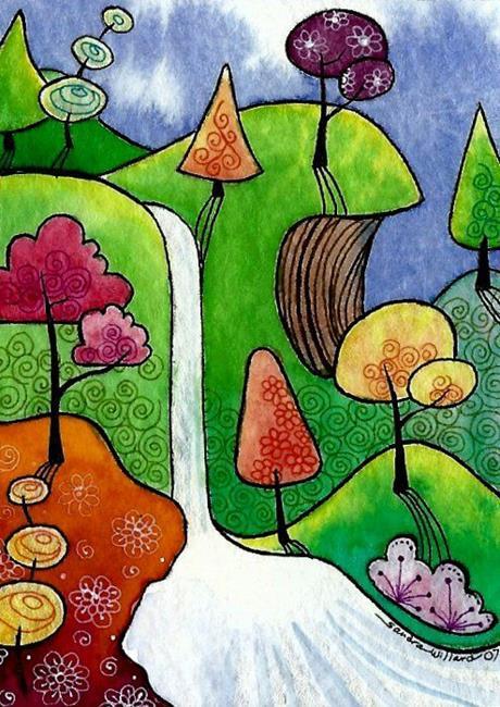 Art: WI-91 - Whisper Falls by Artist Sandra Willard