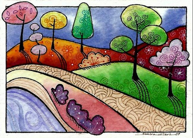 Art: WI-93 - The Secret path by Artist Sandra Willard
