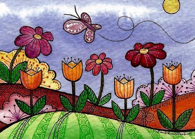 Art: WI-97 - The Flower Garden by Artist Sandra Willard