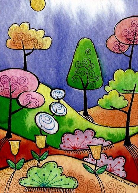 Art: WI-99 - Autumn Hills by Artist Sandra Willard