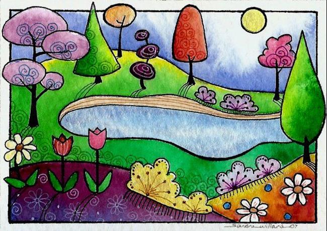 Art: WI-103 - Little Lake by Artist Sandra Willard